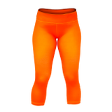 Orange Seamless Capri CrossFit-style Workout Pants from Stronger Rx