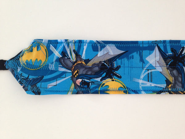 Batman CrossFit-style wrist wraps (blue)--- Atlas Power Wraps