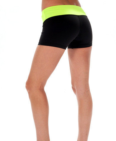 Tron Wide Waistband CrossFit-style Booty Shorts--_WOD Gear (back)