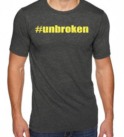 Unbroken men's CrossFit-style t-shirts from Spin Off Apparel
