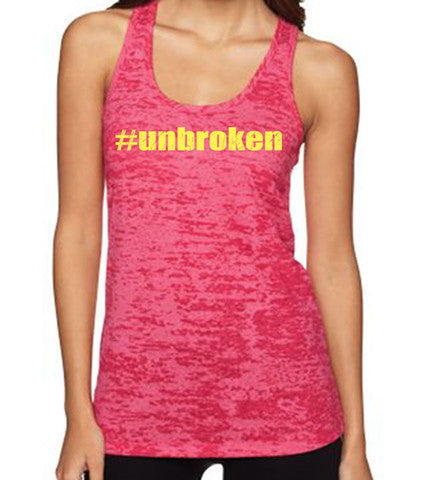 Unbroken women's CrossFit-style tank tops from Spin Off Apparel