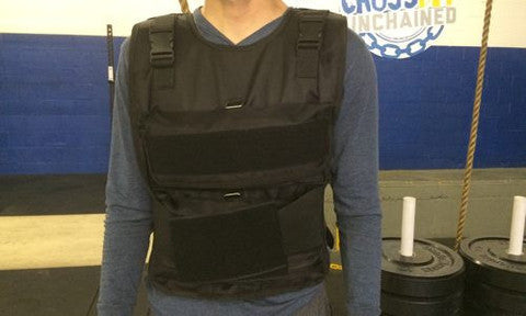 OneFitWonder No-Bounce CrossFit-style Weight Vest (closeup)