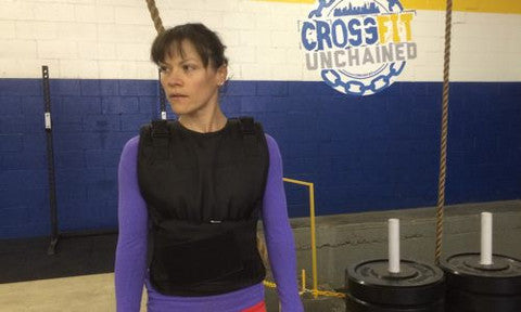 OneFitWonder No-Bounce CrossFit-style Weight Vest (in-use)