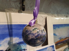 Load image into Gallery viewer, Large Christmas Bauble - Kate's Purple Heather