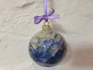 Large Christmas Bauble - Kate's Purple Heather