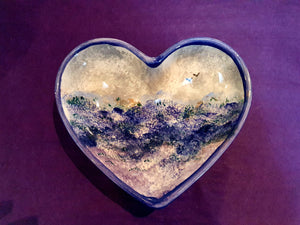 Heart Dish - Kate's Purple Heather