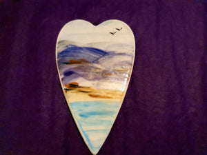 Flat Heart - Seascape and Mountains