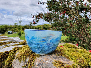 Deep Serving Bowl - Lucy Sea Breeze