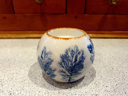 Tealight holder - Islay Botanicals (blue)