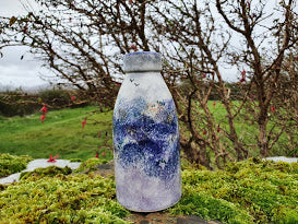 Milk Bottle Vase - Kate's Purple Heather