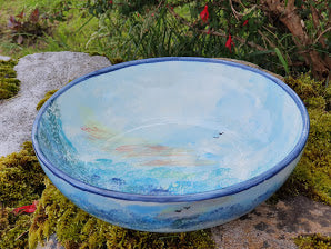 Small Serving Bowl - Lucy Sea Breeze
