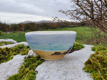 Load image into Gallery viewer, Small Square Topped Bowl - Sheena's Islay Beach Time