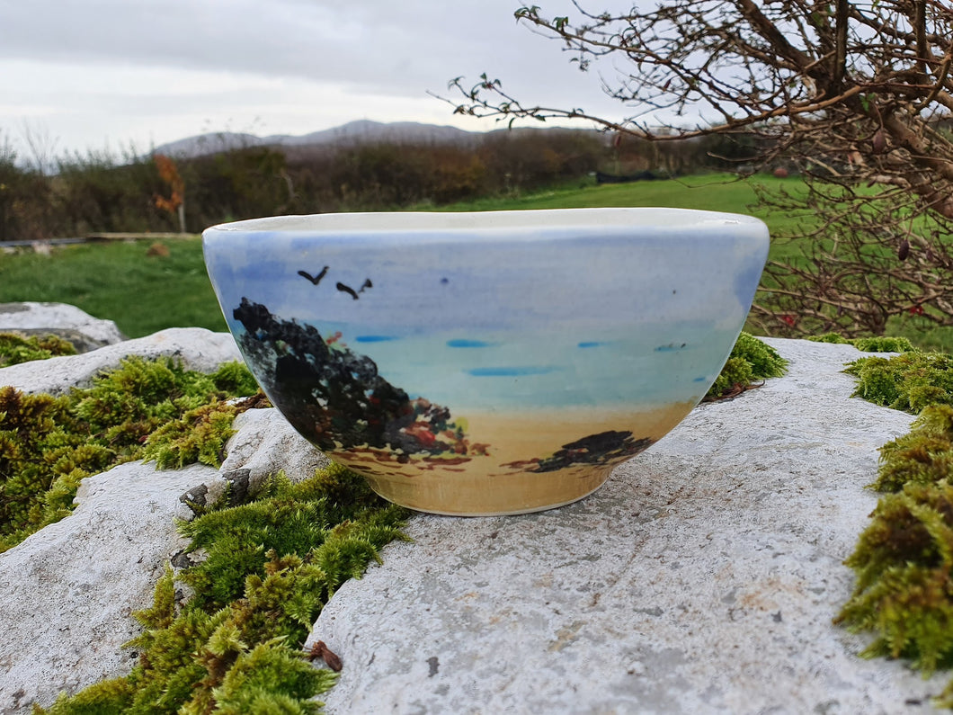 Small Square Topped Bowl - Sheena's Islay Beach Time