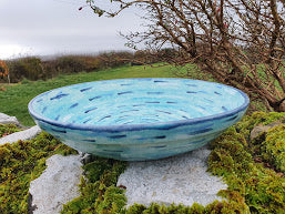 Large Round Serving Bowl (with rim) - Corryvreckan