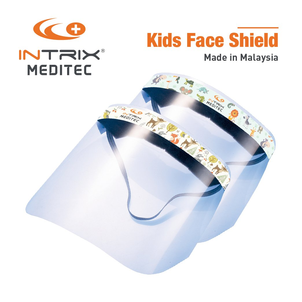 INTRIX Face Shield Mask for Kids (below 12 Yrs Old) - 20 pcs