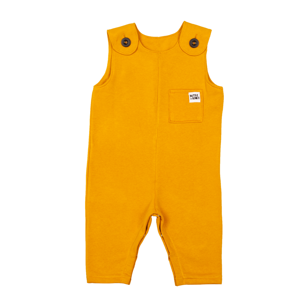 Rattle and Roost Baby Overalls - Mustard