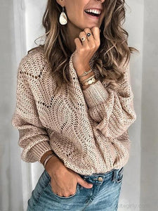 Mohair Pullover Cutout Sweater