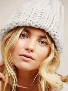 Casual All-match Thick Thread Knit Hat