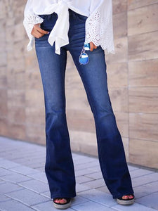 All-match Washed Retro Flared Bottom Casual Jeans