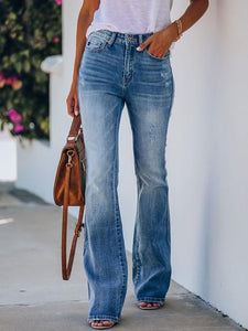 High-rise Hip-lifting stretchy Flare Jeans