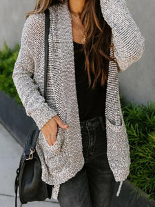 Cotton Blend Oockets Duster Cardigan