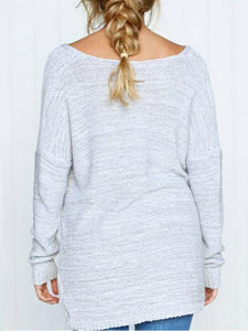 Simple V Neck Front Cross Chic Sweater