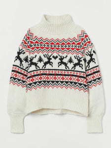 Christmas Style Round Neck Long Sleeve Cozy Sweater