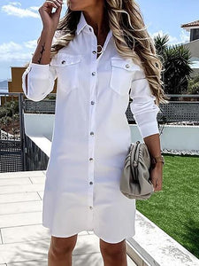Long Sleeve Casual Shirt Dress