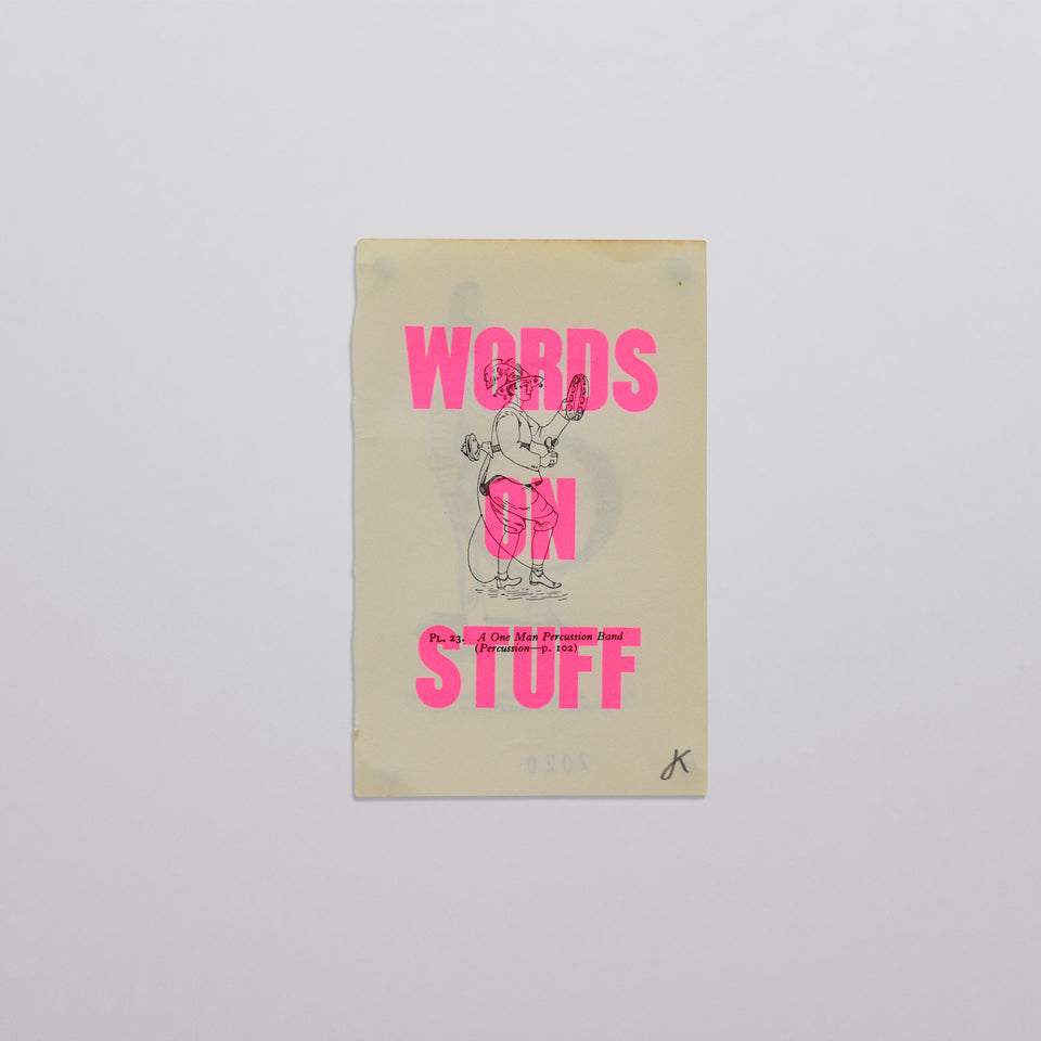 Words on stuff - Music 03 (pink)