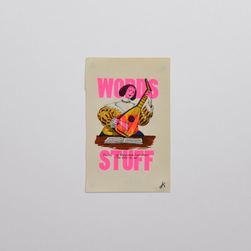 Words on stuff - Music 02 (pink)