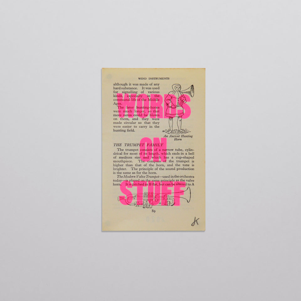 Words on stuff - Music 04 (pink)