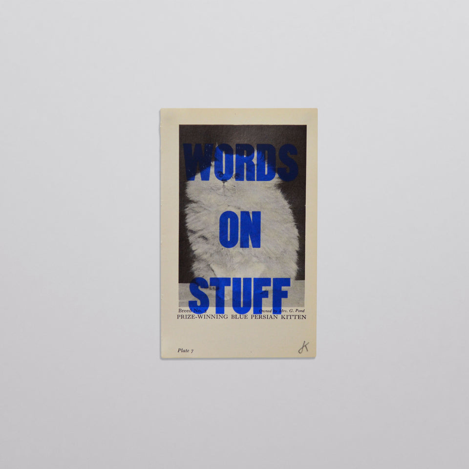 Words on stuff - Cats 05 (blue)