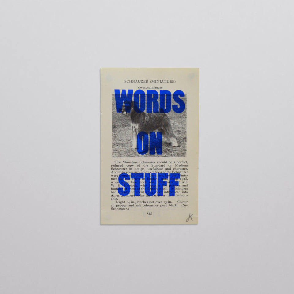 Words on stuff - Dogs 03 (blue)