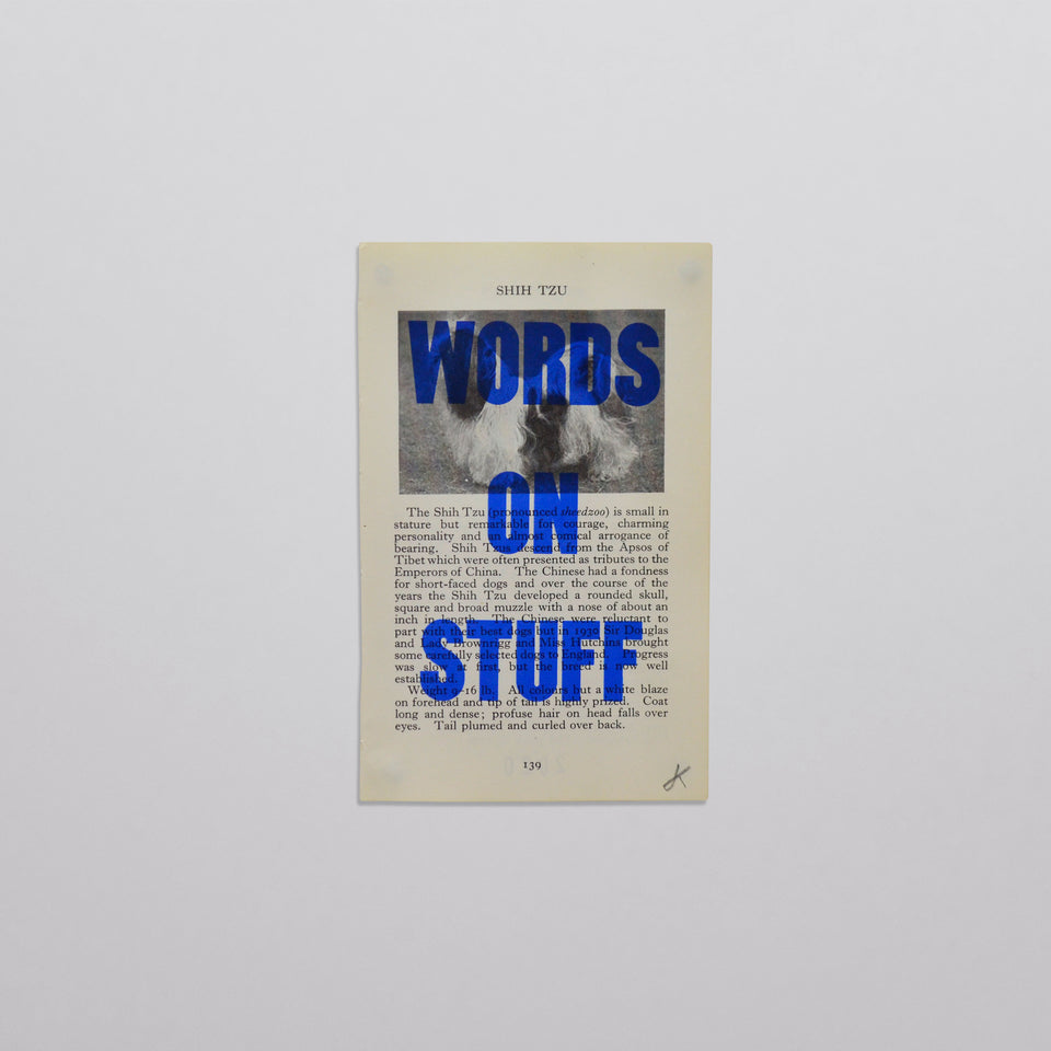 Words on stuff - Dogs 02 (blue)