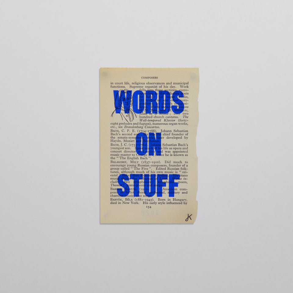 Words on stuff - Music 06 (blue)