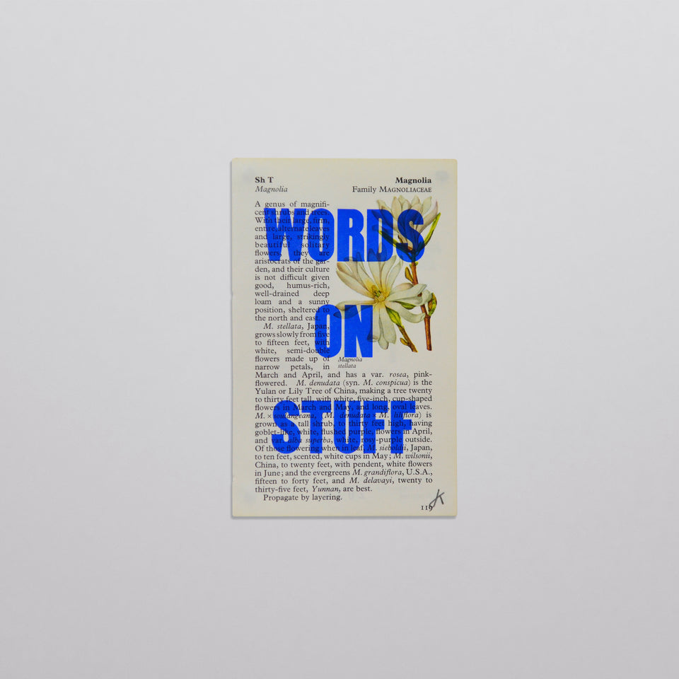 Words on stuff - Flowers 11 (blue)