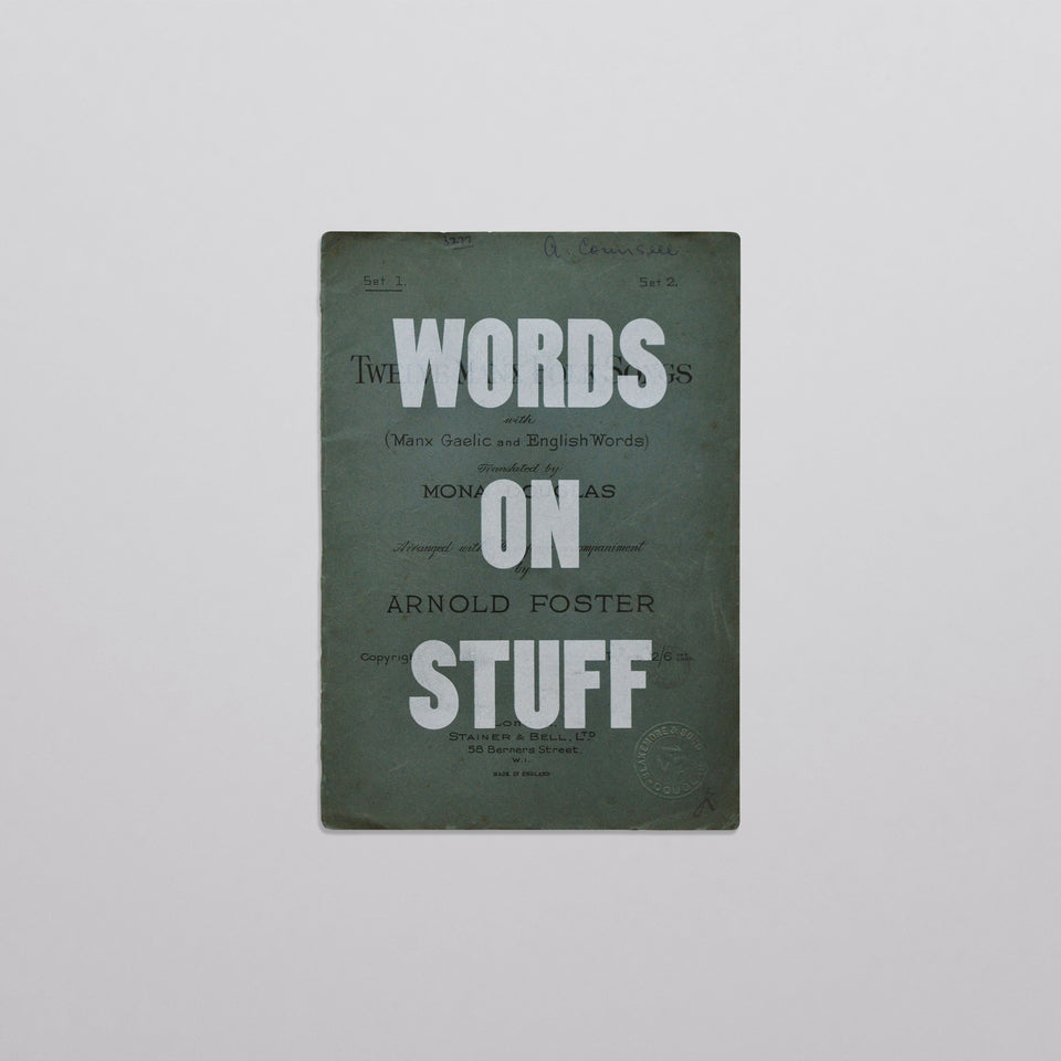 Words on stuff - Covers 01 (white)