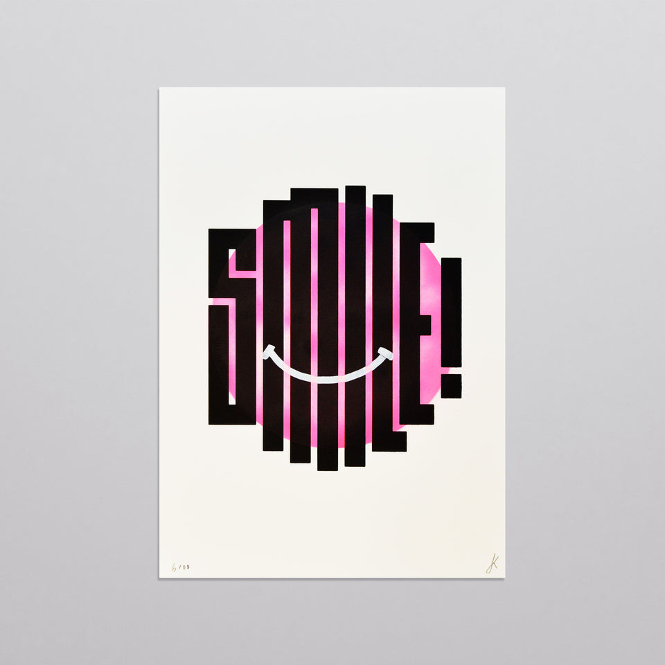Smile - Pink (spray-painted)