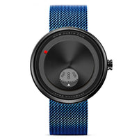 Blue stainless Steel Innovative Wristwatch