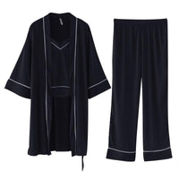 Black pijama silk set