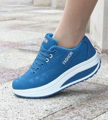 Breathable Thick Bottom Wedges Women Sneakers - Sunshine Store