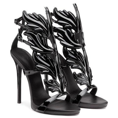 Black dragon high heel
