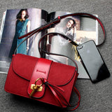 red designer purse