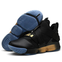black and blue basketball shoes