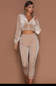 Two Pieces Set Hoodie Top And Pant Tracksuit - Sunshine Store
