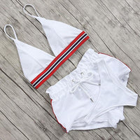 Summer garment set for women in white