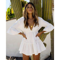 White mini summer dress