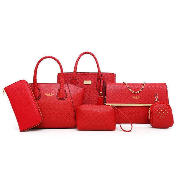Designer purse set red