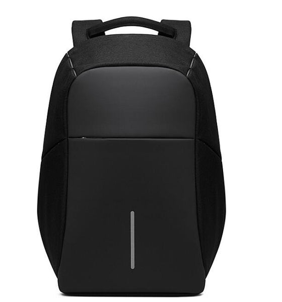 Black unisex backpack