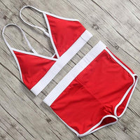Designer summer garment set in red